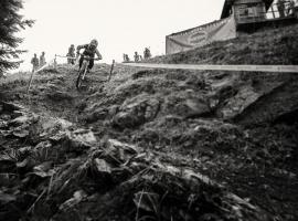 Downhill race in Soriska planina, Slovenia