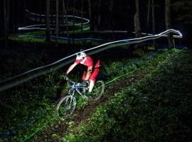Night riding at private trail with Jošt Zaman
